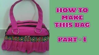 HOW TO MAKE HANDBAG AT HOME-MAGICAL HANDS HINDI SEWING TUTORIAL PART 1