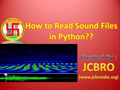 How To Read Sound Files In Python??
