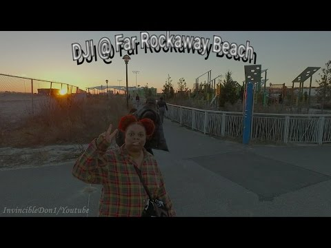 Drone Flight at Far Rockaway Beach with my family