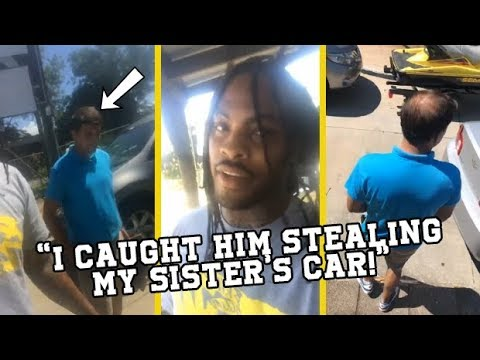 Waka Flocka Catches Man Stealing His Sister's New Car ...