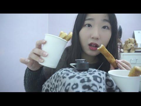 3D Korean 한국어 ASMR/크림치즈스틱먹기/Cream Cheese Stick Eating Sounds/Binaural