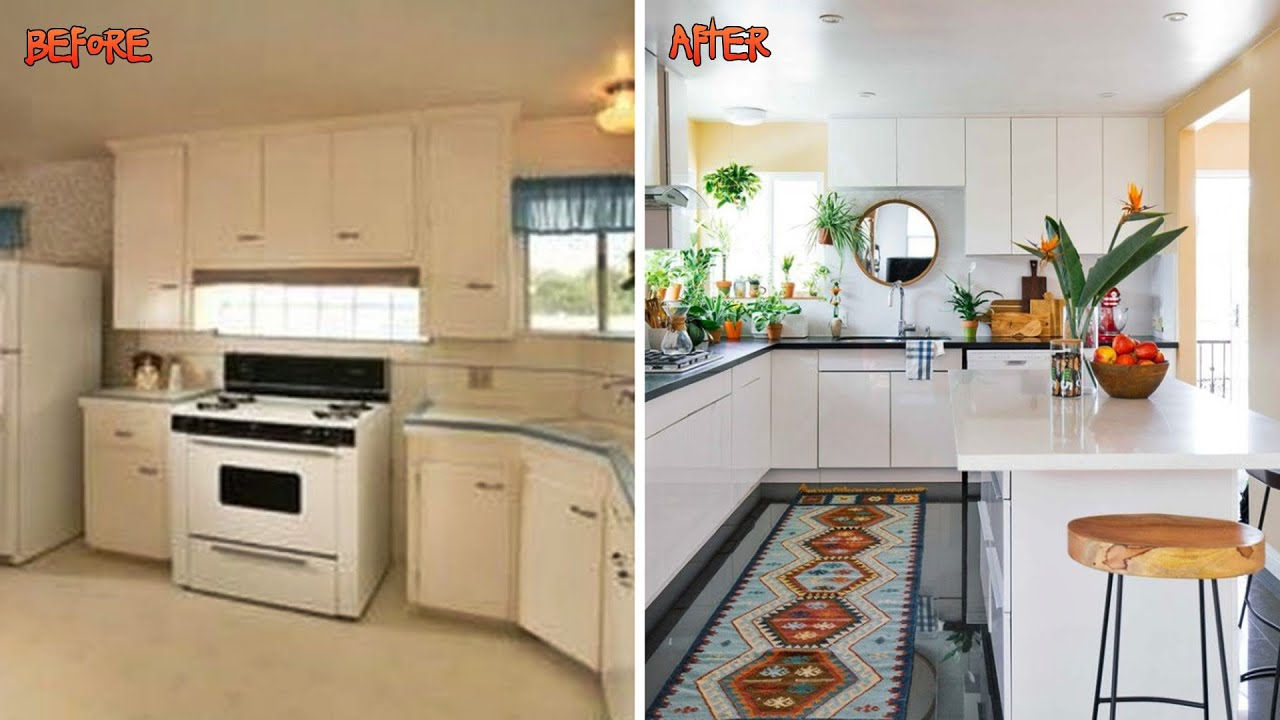 10 Small Kitchen Remodel Before And After Youtube