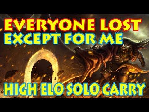 When Your Entire Team Loses - Hyper Carry from the Jungle: Tryndamere Diamond SoloQ [Patch 7.17]