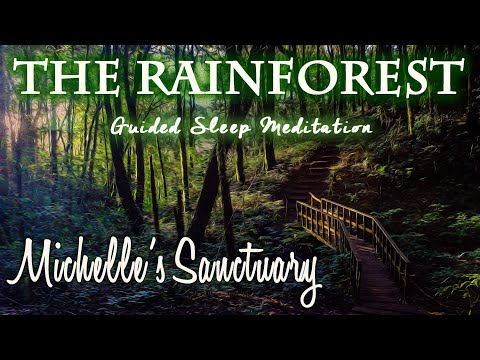 Rainforest Guided Sleep Meditation (Coqui Frog, Rain, Thunder Sounds): Inspired by Puerto Rico