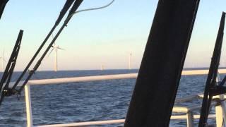 Rix Cheetah Crew transfer vessel at offshore wind farm in north sea