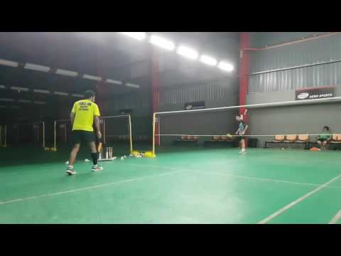 Badminton box game. #AsiaBadmintonAcademy #abdelhakim #lowmj