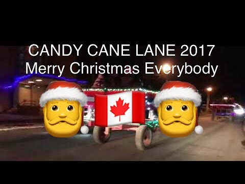 CANDY CANE LANE Christmas lights show 2017
