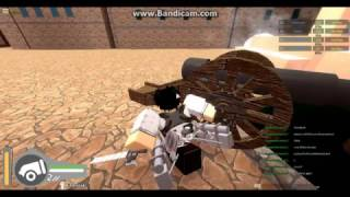 Roblox Attack on titan how to shoot with cannons
