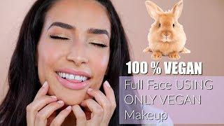 Full Face USING only VEGAN Makeup 🐰 | Lamiya Slimani