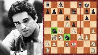 Шахматы. Молодой Гарри Каспаров АТАКУЕТ в СТАРОИНДИЙСКОЙ ЗАЩИТЕ!