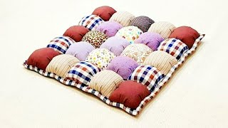 How to make a Bubble Puff Quilt 【泡芙拼布垫】