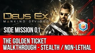 The video walkthrough shows how to complete The Golden Ticket side mission featured in Deus Ex Mankind Divided on Xbox One PlayStation 4 and PC