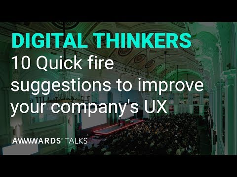 10 Quick fire suggestions to improve your company's UX with