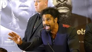 """(heated) david haye erupts on tony bellew and his """"idiot"""" fans; vows to smash his head in"""