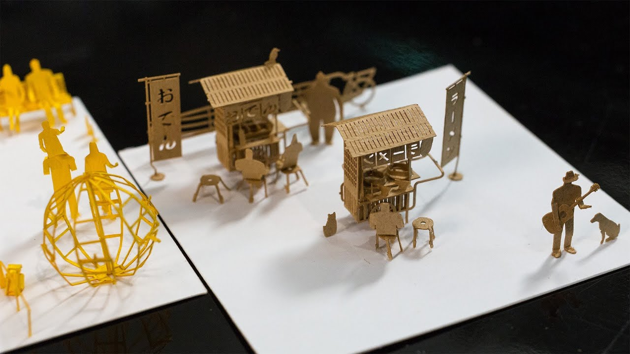 Papercraft Show and Tell: Papercraft Architectural Models