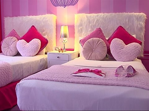 Posh and Pink First Barbie Hotel Room in World YouTube