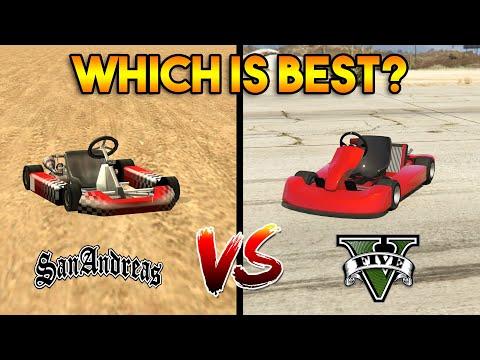 GTA 5 GO KART VS GTA SAN ANDREAS GO KART : WHICH IS BEST?