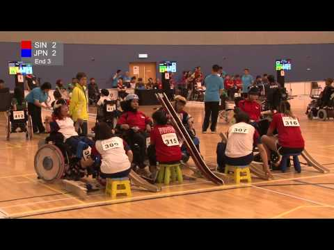 BISFed Asia and Oceania Boccia Team and Pairs Championships 2015 - Match replay (SINGAPORE VS JAPAN)