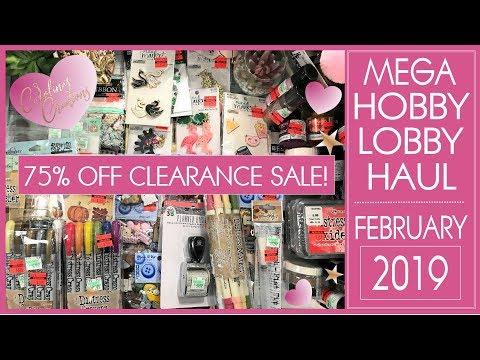 Hobby Lobby Mega 75 % OFF Clearance Sale - 2019