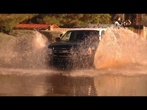 9/8/2014 Mesa, AZ Extreme Flash Flooding Footage.