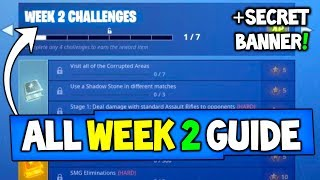 "Fortnite WEEK 2 guia de desafios! -SECRET BANNER ""Treasure Star"" + mais (Battle Royale temporada 6)"