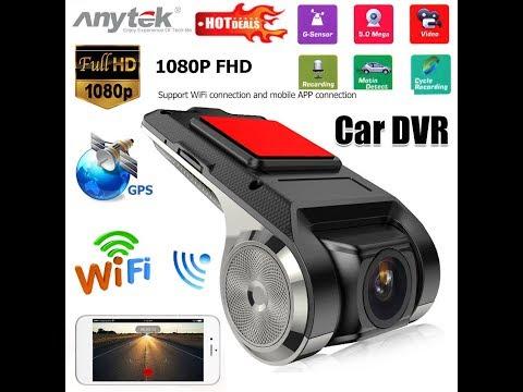 Dvr Veicular Anytek X28 Ucardvr Gps G-sensor 1080 Full Hd Para Central Multimídia Androide