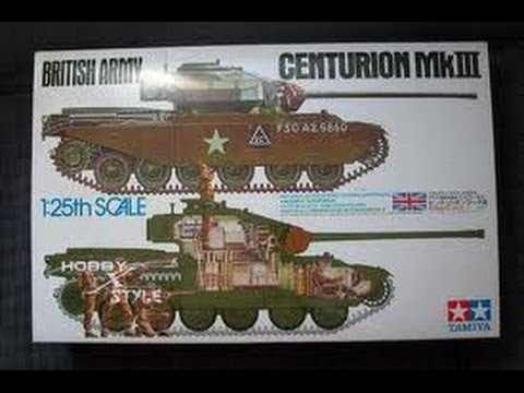 #5 (all time) Tamiya 1/25 British Army Centurion MKIII - inbox review