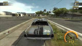 Flatout Ultimate Carnage Water Canal 1 Gameplay