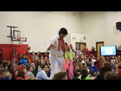 Elvis visits Ray Childers Elementary School