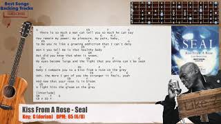 🎸 Kiss From A Rose - Seal Guitar Backing Track with chords and lyrics
