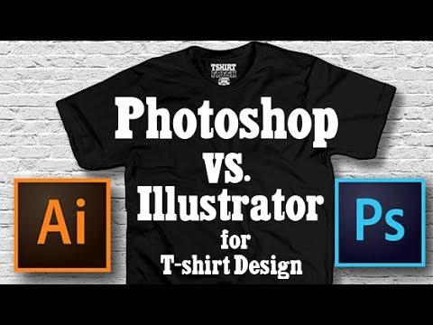 PHOTOSHOP VS. ILLUSTRATOR FOR T SHIRT DESIGN