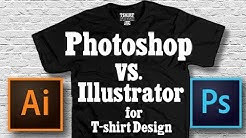 PHOTOSHOP VS. ILLUSTRATOR FOR T SHIRT DESIGN