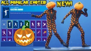 "*NEW* PUMPKIN ""Jack Gourdon"" SKIN SHOWCASE WITH ALL FORTNITE POPULAR DANCES & EMOTES!"