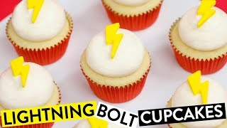 HOW TO MAKE LIGHTNING BOLT CUPCAKES ft Swoozie! - NERDY NUMMIES thumbnail