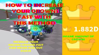 Saber Simulator HOW TO INCREASE YOUR CROWNS FAST