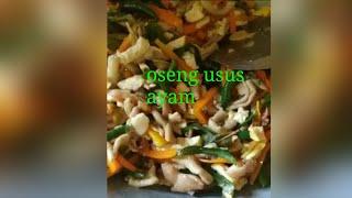 masak usus ayam cabe hijau/ijo