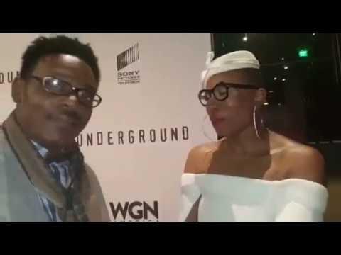 of Aisha Hinds at Underground Season 2 Premier