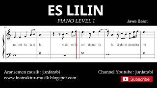 not balok es lilin - piano level 1 - lagu daerah jawa barat - do re mi / solmisasi
