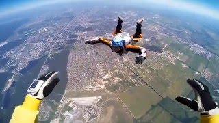 Прыжок с парашютом. Аэродром Чайка Киев Украина      DZ Chayka Kiyv Ukraine