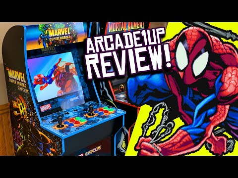 Arcade1Up MARVEL SUPER HEROES Capcom Arcade Cabinet UNBOXING and REVIEW! from Clownfish TV