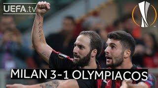 MILAN 3-1 OLYMPIACOS #UEL HIGHLIGHTS