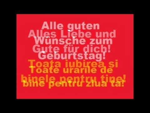 La multi ani in Limba Germana - YouTube