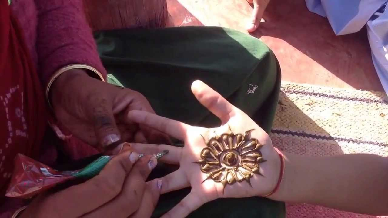 How To Draw Simple Indian Mehndi Henna Floral Design Tattoo