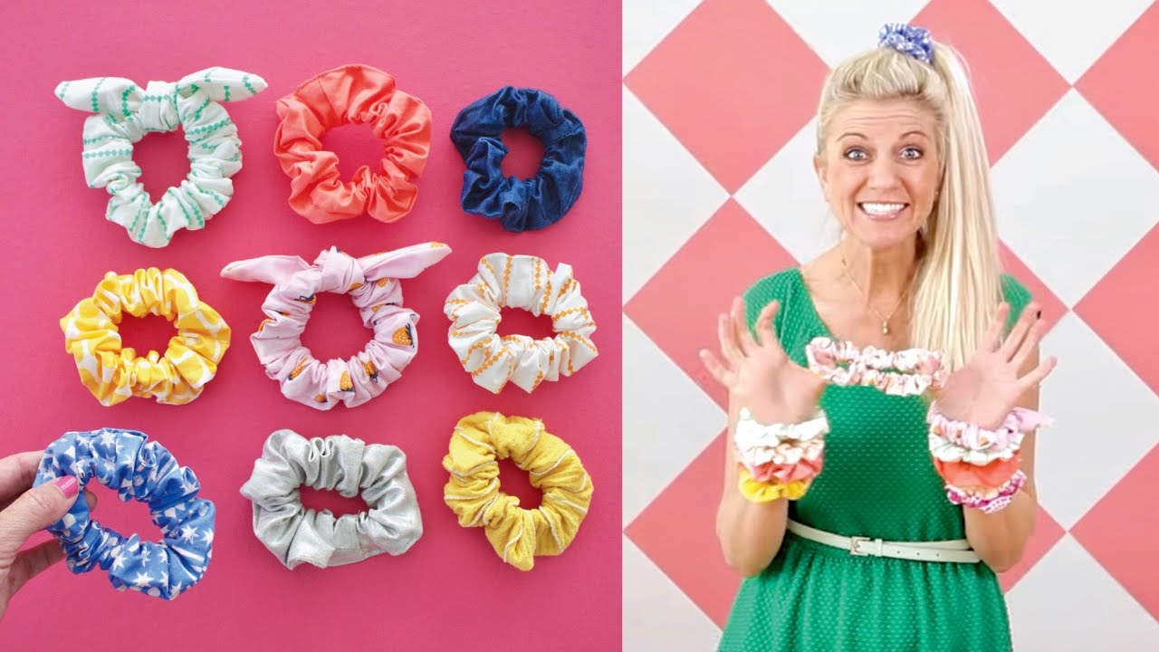 Download How to make SCRUNCHIES -- any size + with a tie! EASY
