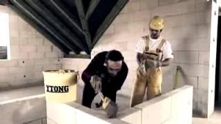 Перегородки из газобетона(В это видео от компани Ytong, вы узнаете как правильно производить кладку внутренних перегородок. Продукцию..., 2014-05-20T10:07:24.000Z)