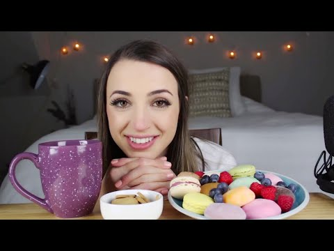Mochi Ice Cream & Macarons | ASMR Chat & Eating