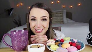 Mochi Ice Cream & Macarons | ASMR Chat & Eating