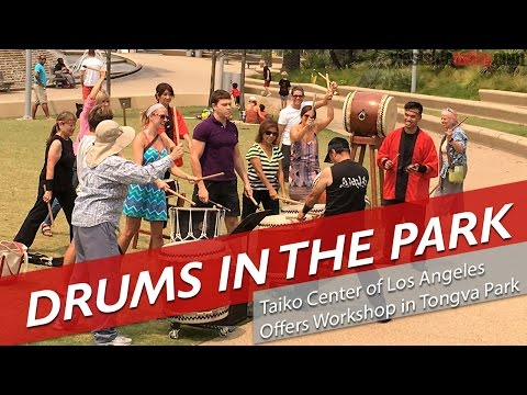 Drums in Tongva Park