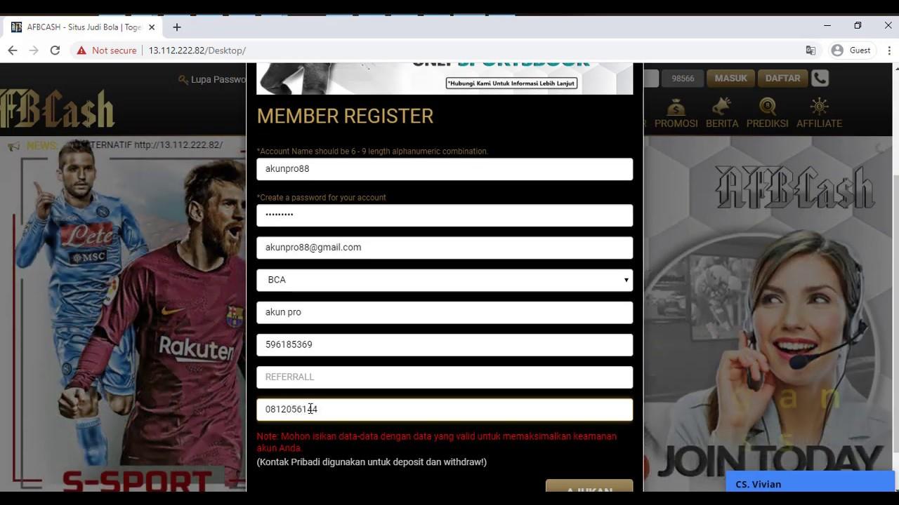 Tutorial Cara Daftar di Situs Agen Judi Bola Online ...