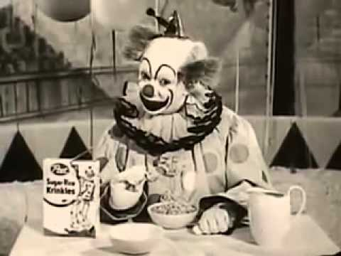 Creepiest & Scariest Children's Cereal Commercial Ever - Krinkles the Clown